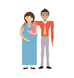 couples relationship family pregnancy vector image