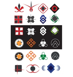 Creative symbols design elements collection vector