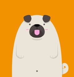 cute big fat Pug dog vector image