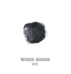 Dark black ink watercolor frame vector