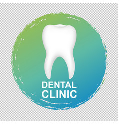 dental clinic logo transparent background vector image