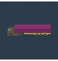 detailed trucks silhouettes vector image