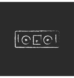 DJ console icon drawn in chalk vector