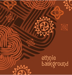 Ethnic background vector