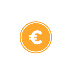 Euro currency icon design template isolated vector