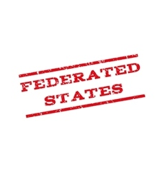 Federated States Watermark Stamp vector image
