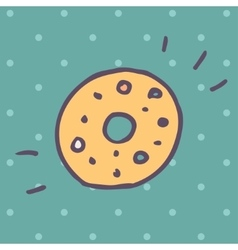 Flat Icon of donut vector image