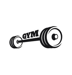 gym and fitness sign vector image