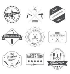 Hairdresser label set vector image