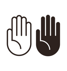 Hand icon set vector