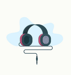 headphones icon isolated on white vector image