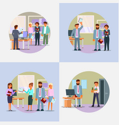hiring process icon set flat vector image
