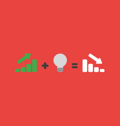 Icon concept of sales bar graph moving up plus vector