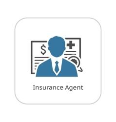 Insurance Agent Icon Flat Design vector image
