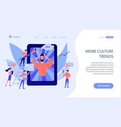 Internet meme concept landing page vector