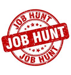Job hunt stamp vector