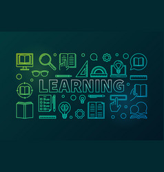 learning colored concept education vector image