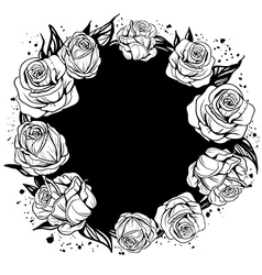 leaves and flowers of roses vector image