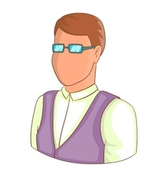 Man in glasses avatar icon cartoon style vector image