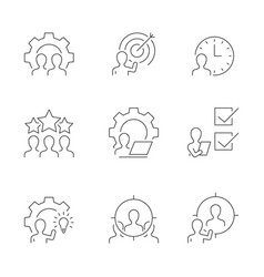 management line icons on white background vector image