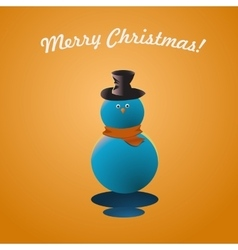 Merry Christmas Snow Man Greeting Card vector