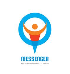 messenger - logo template concept vector image
