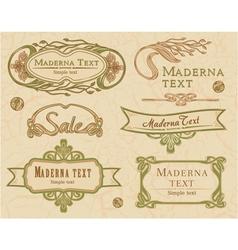 Modern vintage items set vector image