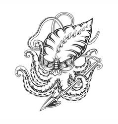 monster kraken vector image