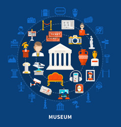 museum round design concept vector image