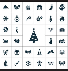 new year icons universal set vector image