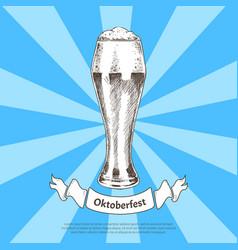 oktoberfest beer holidays vector image