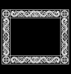 patterned frame in celtic scandinavian vector image
