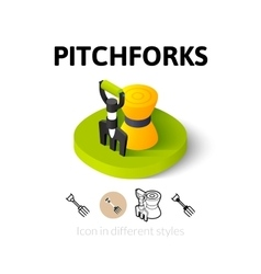Pitchforks icon in different style vector image