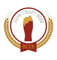 premium quality craft brew beer vector image
