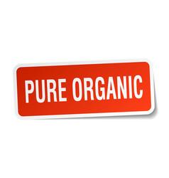 Pure organic square sticker on white vector