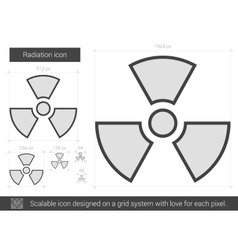 Radiation line icon vector