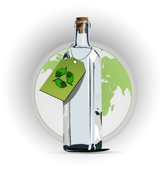 recycle glass vector image