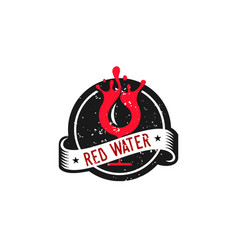red water vector image