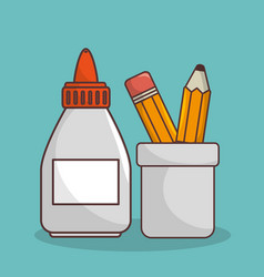 school elementes isolated icon vector image