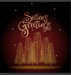 Seasons greetings christmas tree vector