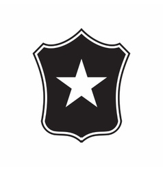 Shield with star icon simple style vector