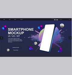 smartphone rotated position mockup vector image