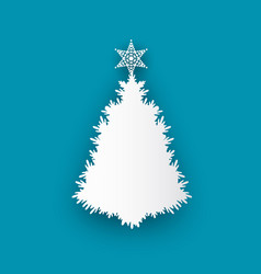 spruce tree topped by star icon isolated vector image