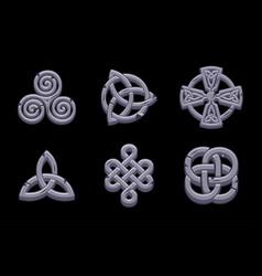 Stones celtic symbols vector