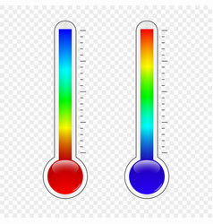 temperature thermometer vector image