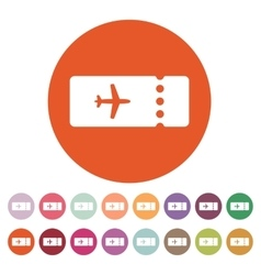 The blank ticket plane icon Travel symbol Flat vector image