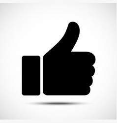 thumb up symbol like icon flat style vector image