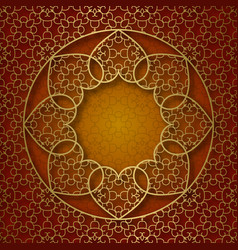 Traditional ornamental background with round vector