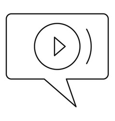 Video chat icon outline style vector