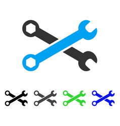 Wrenches flat icon vector